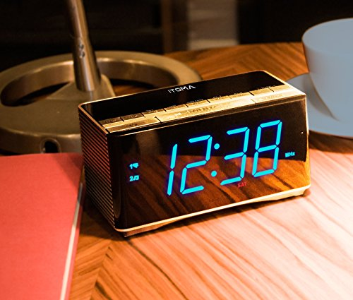 from usa upgraded itoma bluetooth speakers with alarm clock radio dual ala. Black Bedroom Furniture Sets. Home Design Ideas