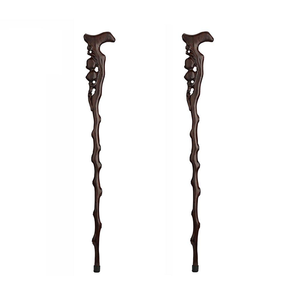 NUBAO 高齢者のためのスティック高齢者のためのスティック高齢者のためのスティック3つのスタイル彫刻された木90センチメートル(35.43インチ)簡単に短縮する (色 : B, サイズ さいず : 二) B07CTPQH5D B 二
