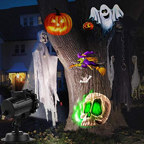 Chartsea LED Projector Light 16 Pattern Landscape Lamp Projection For Halloween (multicolor) -