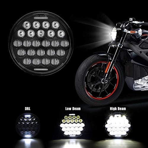 5 75 Zoll Led Hi Lo Beam Scheinwerfer Mit Weißem Tagfahrlicht Für Motorräder Auto