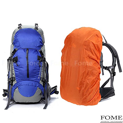Hiking Daypack, iDeep 45L+5L Unisex Camping Backpack Outdoor Sport Nylon Water-resistant Internal Frame Hiking Backpack Bag with Rain Cover for Adult Climbing Travel Mountaineering
