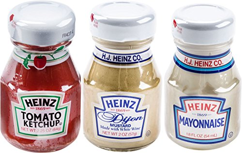heinz-ketchup-mustard-mayonnaise-glass-miniatures-pack-of-12-bottles-4-bottles-of-each-variety