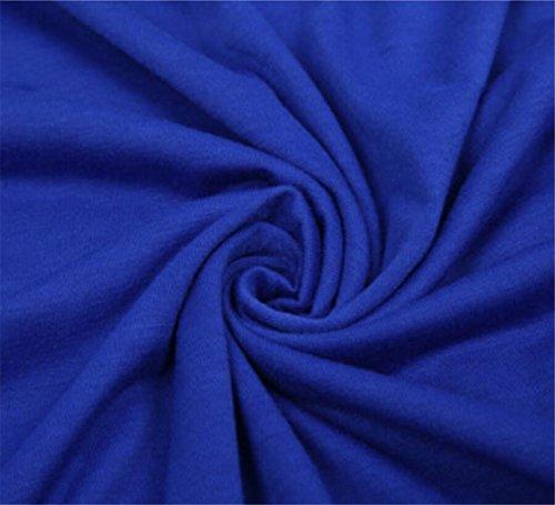 Plain Hem Dress Sleeve Loose Womens Domple Short Long Blue Stylish Irregular Pleated HwaEnq86
