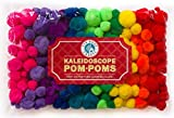 Tin Roof Crafts Deluxe Pom Poms in Hot Kaleidoscope Colors for Crafts