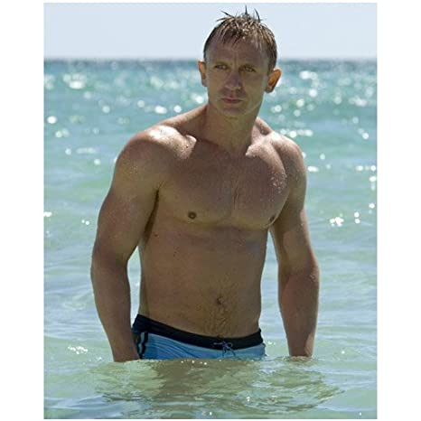 bcd4372c29 Daniel Craig 8 x 10 Photo Skyfall James Bond 007 Casino Royale 007 swimsuit  at Amazon's Entertainment Collectibles Store