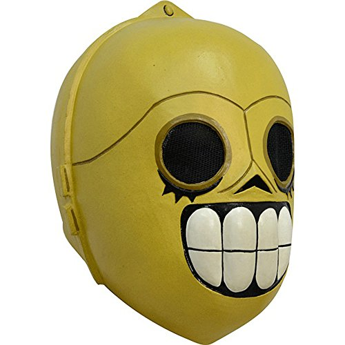 [Maya Studio Calaveritas Sugar Skull Skelee Droide Star Wars Adult Latex Mask New] (C3po Mask)