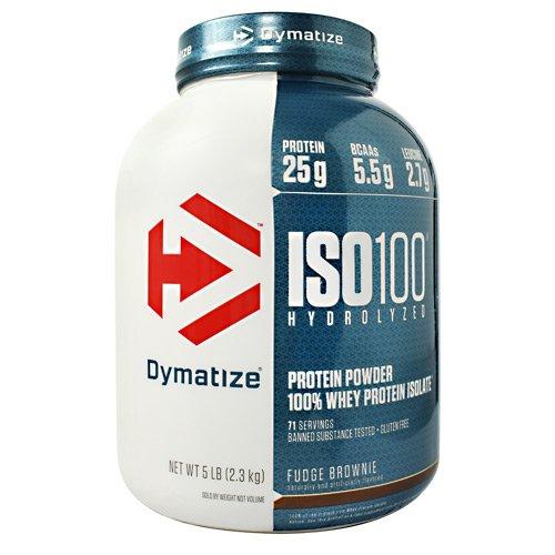 - Dymatize ISO 100 Hydrolyzed Whey Protein Powder Isolate, Fudge Brownie, 5 Pound