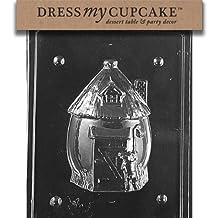 Dress My Cupcake DMCE208B Chocolate Candy Mold, Bunny Hut, Easter