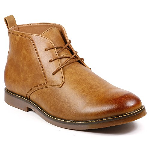 Chukka Casual Boots (Miko Lotti BF1305 Men's Lace Up Casual Fashion Ankle Chukka Boots (9.5, Tan)