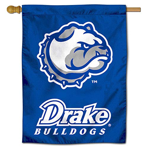 College Flags and Banners Co. Drake Bulldogs Banner House Flag
