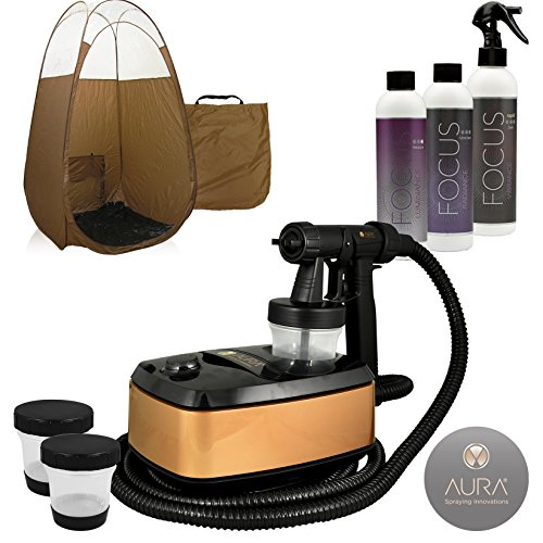 Aura Allure Spray Tan Machine Kit with Tanning Solution and Bronze (Spray Tan Machine)