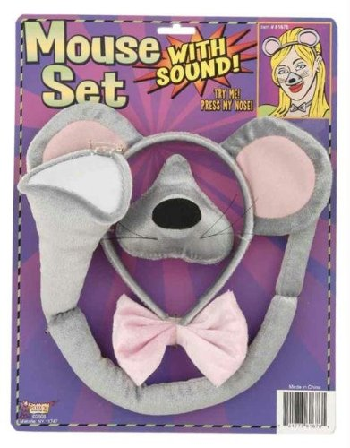 Forum Novelties Animal Costume Set Gray Mouse