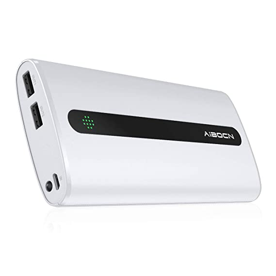 Aibocn 20000mAh Portable Charger External Battery Power Bank with Flashlight for Apple Phone iPad Samsung Galaxy Smartphones Tablet and More, White