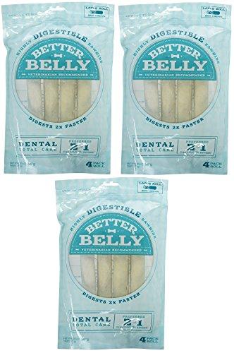 Cheap Better Belly Large Dental Rolls 12 Pack (3 Packages, 4 Bones Each)