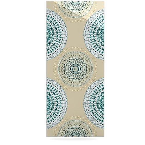 Kess InHouse Julia Grifol Soft Mandalas Green Yellow Luxe Rectangle Panel 24 x 36
