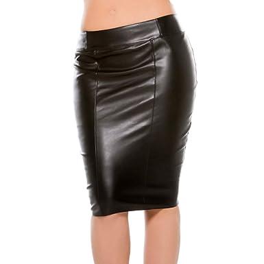 05cbc81cad Amazon.com: Allure Lingerie Faux Leather Pencil Skirt, Long Pencil ...