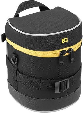 Ruggard Lens Case 6.0 x 3.5 Black 4 Pack