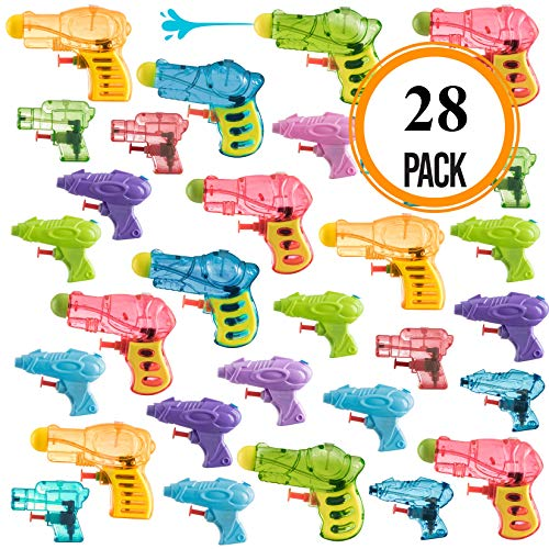 Pack of 28 Assorted Water Guns Pool Water Shooters and Water Blasters Combo Set of Water Squirt Toy -