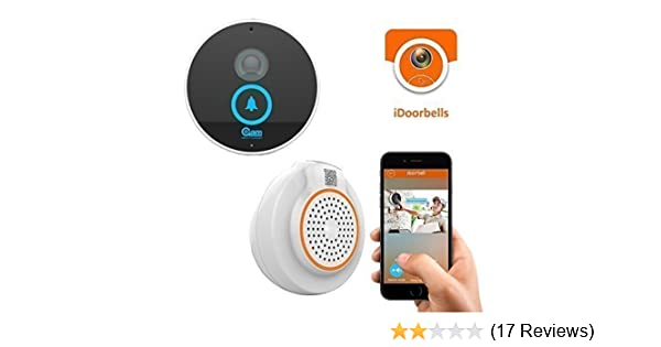 Coolcam Wi-Fi Video Doorbell, Weather resistant, HD IP Camera, Door Chime,  Built in 8G TF Card, ,2-Way Audio with push notication