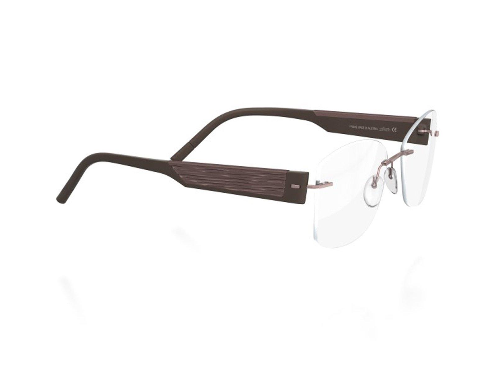4511f48e703 Silhouette 4448 Womens Ladies Designer Rimless Titanium Eyeglasses Eyewear  (55-17-