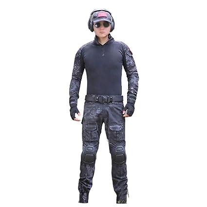 Traje de camuflaje con patrón de pitón, traje de entrenamiento táctico Fuerzas especiales Conjunto deportivo