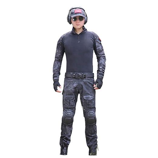 Mallas de traje de camuflaje Python negro Entrenamiento táctico ...