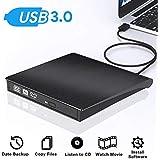 External CD Drive - [Updated Version] USB 3.0 Portable CD/DVD/-RW Drive Slim DVD/CD ROM Rewriter Burner Writer, High Speed Data Transfer for MacBook Pro Laptop/Desktops Win 7/8/10 and Linux OS