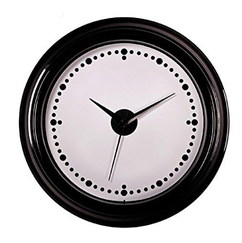Brown Dot Clock (SonYo Indoor Antique Simple Dots Wall Clocks Silent Decorative Quartz Quiet Sweep Second Hand Wall Clocks 12 Inch)