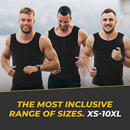 Sweat Vest for Men - (XS-10XL) - Advanced Weightless Neoprene Sauna Shirt – Increase Your Workout Motivation - Designed in The USA 5