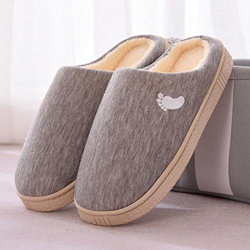 cotone pantofole paio home calda pantofole antiscivolo soggiorno e coperta spessa uomini 39 grigio 40 femmina Inverno di di fankou qBXcBARt