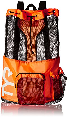 Swim Gear - TYR Big Mesh Mummy Backpack, Orange, One Size