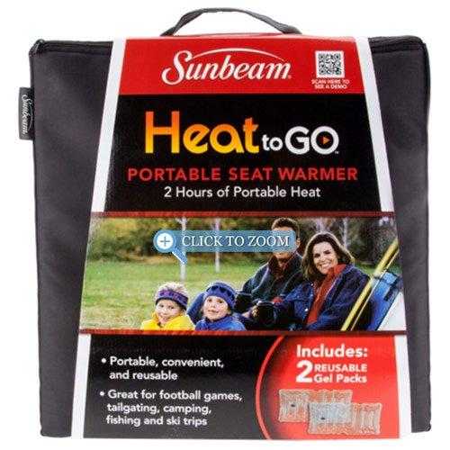 Sunbeam Heat to GO Portable Seat Warmer, Black