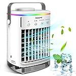 Condizionatore D'aria Portatile, Hisome Air Cooler Refrigeratore d'aria 5 in 1, Umidificatore Purificatore Diffusore di… 51j3O4QZhuL. SS150