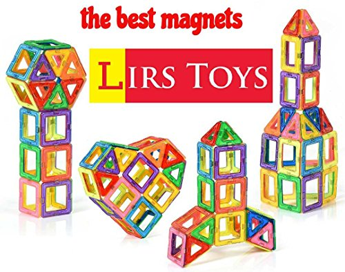 LIRS TOYS 30-pcs: Magnetic Blocks, Magnetic Tiles, Building Blocks Set for Kids/Toddlers Age 3+.Creativity & Educational Toys for Boys/Girls.Premium 3D.