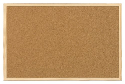5 Star Office 906713 Korktafel 90 x 60 cm Kork / Holz Stück, braun