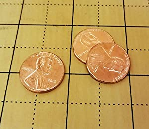 Steel Shim Shell Penny Magic Trick Set (3 Pennies) by Sasco