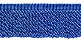 DecoPro 10 Yard Value Pack of 2.5 Inch ROYAL BLUE Bullion Fringe Trim, Style# EF25 Color COBALT BLUE - I6 (30 Ft/9 Meters)