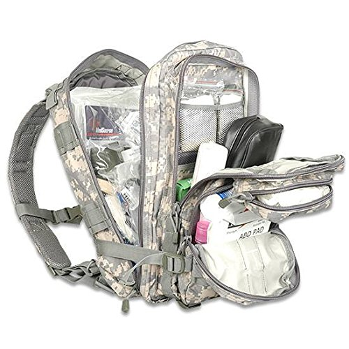 Elite First Aid Fully Stocked Tactical Trauma Backpack, ACU