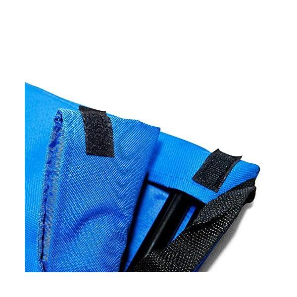 51j3OyfA8HS Deuba 2X Strandmatte Faltbar Gepolstert Kissen verstellbare Rückenlehne Staufach Badematte Isomatte Strandtuch Blau