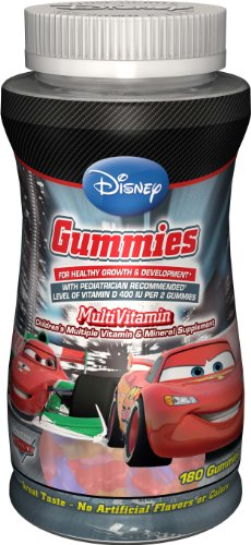 DISNEY MULTIVITAMIN CAR'S - BONBONS MULTIVITAMINES ENFANTS - 180 BONBONS