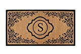 A1 Home Collections PT6002-S Hand Craft Entry Coir Monogram Double Doormat,72'' L x 36'' W,X-Large-S, 36''X72''