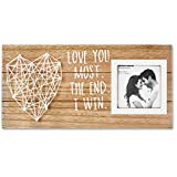 VILIGHT Boyfriend and Girlfriend Couples Romantic Picture Frame - Love You Most The End I Win Husband Gifts from Wife Rustic Sign for 3x3 Photo