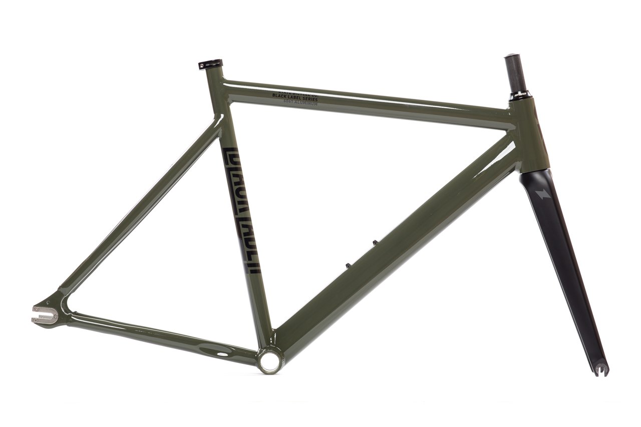 State Bicycle Black Label 6061 v2 Aluminum Frame and Fork Set, Army Green, 52cm State Bicycle Co. 25-6061v2-FF-P