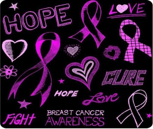 Breast Cancer Awareness Hope Cure New Mouse Pad Mat
