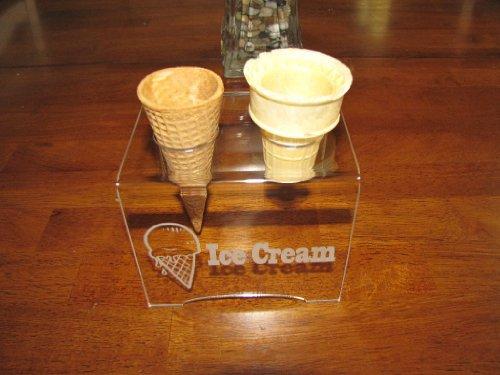 - Engraved Acrylic Double Cone Ice Cream Cone Holder