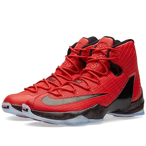 NIKE Men's Lebron XIII Basketball Shoe (University Red/Blk-Brght Crmsn)