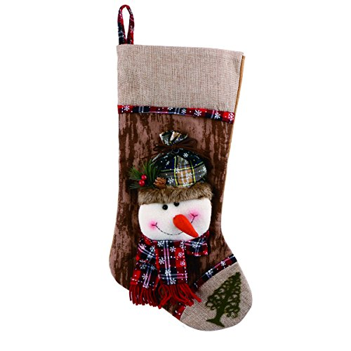 Christmas Snowman Stocking Holiday Festive Cute Hanging Decorations 2246cm ()