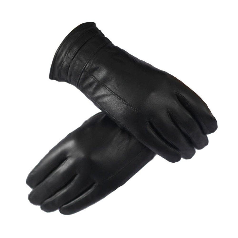 surblueレディース冬レザーエレガントな暖かいフリース裏地手袋4色 B01M8OFNXU ブラック ブラック