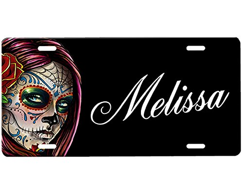 Personalized Sugar Skull License Plate