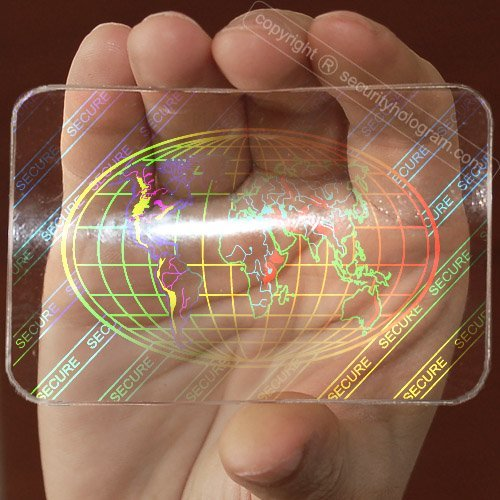 25 ID Cards Security Hologram Overlay Stickers with Micro Secure Technology SHID-08